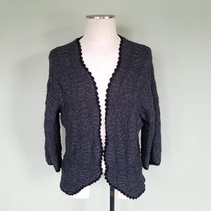 Anthropologie Guinevere Wool Scallop Cardigan